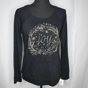 Style & Co Petite Embroidered Joy Shirt